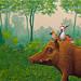 Zwijn in bos