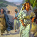 The women return from the grave, after Jesus' resurrection
