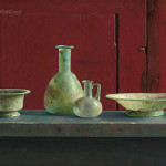 Romeins glas voor rode kast