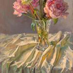 De laatst bloeiende pioenen