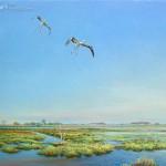 Landing storks