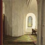 Onder het orgel in de N.H. Kerk te Krewerd