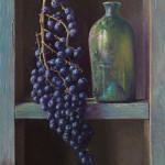 Kastje met druiven